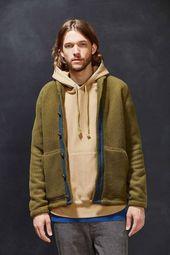 Urban Outfitters ohne Wände Polartec Fleece Jacke Größe US L / EU 52-54 / 3 … – Mens Style