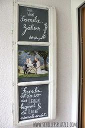 Türschild, upcycling, DIY, altes Holzfenster, Fam…