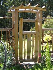 Gartentor selber bauen – 40 super Beispiele! – Archzine.net