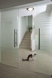 Interior doors modern as sliding door with glass room …