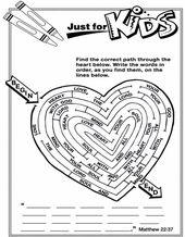 Word Search Sunday School Kids Sunday School Valentines Sunday School Activities