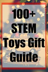 Looking for STEM Toy Ideas? These STEM toys are perfect for any gift giving time. STEM toys are great to encourage children's love of learning in Scie…