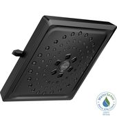 Delta 3-Spray 7.6 in. Single Wall Mount Fixed Rain H2Okinetic Shower Head in Matte Black-52684-BL – The Home Depot