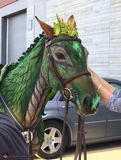 Wie man ein Pferd in einen Drachen verwandelt – Halloween-Kostümwettbewerb auf Costume-Works.com