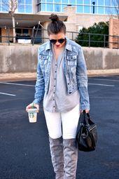 Wie man im Winter weiße Jeans trägt