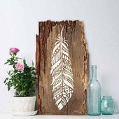 Tribal Feather Wall Art Stencil – Reusable Stencils – DIY Home Deco …