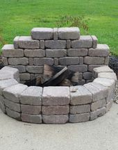 Photo of Diy outdoor fireplace. $80 total