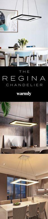 Regina – Modern Hanging Frame LED Lamp