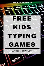 Kidztype – Be taught Tips on how to Sort the Enjoyable Approach with Free Typing Video games