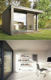 backyard offices by British company Pod Space House Backyard