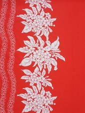 Pua & Lei Red Poly Cotton KI-05