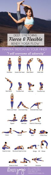 "😍""I Will Overcome All Adversity""🤸 Fierce Flexibility Yoga Printable"