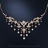 Antique Diamond Necklace – 90-1-4562 – Lang Antiqu…