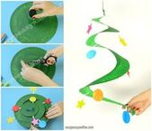 Swirling Paper Plate Christmas Tree