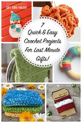 7 Quick And Easy Crochet Projects For Last Minute Gifts
