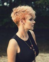 Elegant Kurzhaarfrisuren Damen In Blond