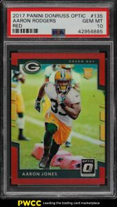 2017 Donruss Optic Red Aaron Jones Rookie Rc 99 135 Psa 10 Gem Mint Pwcc Psa Baseball Cards 10 Things
