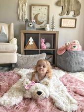 Bär Teppich, Bär Decke, kleine Polar Minky Bär Plüsch, Wald Kinderzimmer Dekor, Waldtiere   – Adventure theme nursery