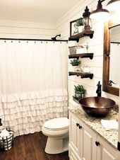 20+ Awesome Farmhouse Bathroom Ideas #NoBSRetroHom…