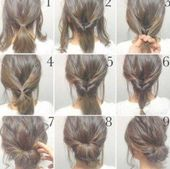 18+ ideas for how to do a messy bun with thin hair step by step #hair #howto