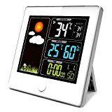 ELEGIANT LCD Funk Wetterstation Thermometer Hygrometer Wecker P