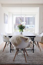 The mix of styles makes it! Chairs in Scandinavian furniture look, combined with …