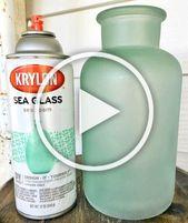 Holen Sie sich den Seaglass-Look mit Sea Glass Spray Paint und Frosted Glass Spray Paint …..   – Diy Christmas Room Decor
