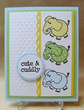 Baby Cards Handmade Baby Card with cute little Elephant by Savvy Handmade Cards