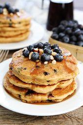 Blueberry Almond Pancakes – Two Peas & Their Pod
