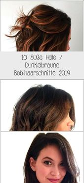 10 cute light / dark brown bob haircuts 2019