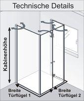 HSK Duschkabine Exklusiv 2 Drehfalttüren | Fensterlösung – Sauna