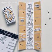 Baby Cards Eine etwas andere Explosions-Box – mit zuckersüßen Zebras – Stempelfantasi...