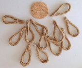 Rustic & Chic Jute Twine Flowers on Glass Ornaments