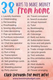 38 Sure-Fire Ways to Make Money From Home – Jane Pabon