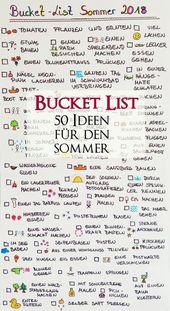 Bucket List fu00fcr den Sommer – 50 Dinge die wir…