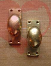 ヴィンテージ風の真鍮ドアノブ オーバル 備品 ドアノブ