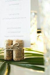 Süß und billig Hochzeitsdekoration basteln | Kork Upcycling | Tischdekoration für die …   – Diy und Selbermachen