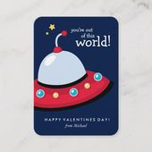 You're Out of This World Valentine Note Card | Zazzle.com