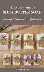 Hausgemachte Seife | DIY | DIY Seife | Handwerk | Geschenke | Lavendel Seife | Honig Haferflocken …   – Etsy/Dawanda project