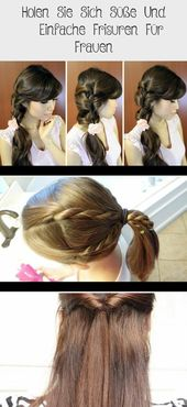 Get Sweet And   Simple hairstyles for women