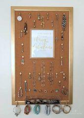 DIY Jewelry Organizer (Aufbewahrungsideen)
