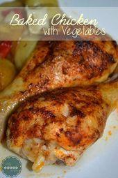 Pollo al Horno con Verduras | RECETAS DE DIETA DUKAN
