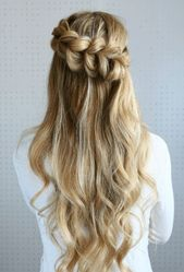 Nette einfache Frisuren für mittellanges Haar für Schule #hairstyle