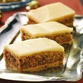 Barras de nuez y naranja   – Rezepte – Brownies / Blechkuchen / Riegel