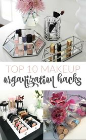 The best hack for organizing makeup! The best tips and tricks to clean and preserve …