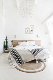 skandinavische Schlafzimmerideen, nordisches Wohndesign, skandinavische Schlafzimmerdekoration …