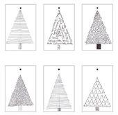Christmas tree Christmas gift tags ::: free printables