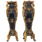 Pair Of 1stdibs Planters / Cachepots / Jardinières – Jardiniere Stands Plinths Style French Louis Xv Wood