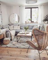 Gemütliche Wohnzimmer-Dekor-Ideen, zum von #livingroomid zu kopieren…