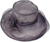 Wide brim wedding hatsuma-ma ladies church party occasional hats summer holiday organza sun hat – Products